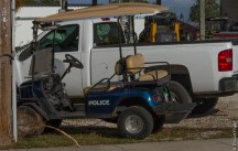Even the police have golf carts!