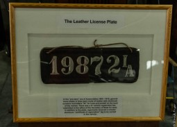 Leather License Plate!